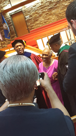 Dr. James E.K. Hildreth and mother at the Investiture